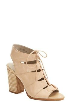 Hinge+'Drea'+Peep+Toe+Leather+Sandal+(Women)+available+at+#Nordstrom