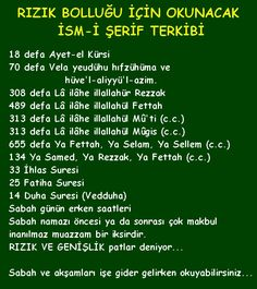 313 defa Lâ ilâhe illallahül Mûgis (c.) 655 defa Ya Fettah, Ya Selam, Ya Sellem (c. Allah Islam, Islam Quran, Muslim Pray, Religion, Islamic Dua, Gifts For Office, Thing 1, My Prayer, S Word