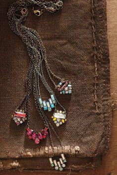 Sparkled Crest Necklace - anthropologie.com