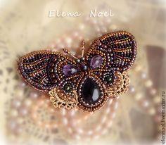 Купить Маленькая аметистовая бабочка брошь - сиреневый, бабочка, весна, кружево, бабочка брошь, брошка