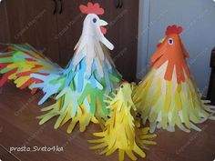 To do with the kids for Easter. The result was a very sunny work. Easter Crafts, Fun Crafts, Diy And Crafts, Diy For Kids, Crafts For Kids, Chicken Crafts, Handprint Art, Animal Crafts, Craft Party