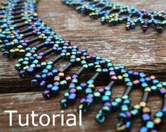Simple Necklace Beadwork Pattern/Tutorial Instant by BearlyBeaded, Beaded Jewelry Patterns, Bracelet Patterns, Beading Patterns, Making Bracelets With Beads, Jewelry Making, Collar Indio, Diy Collier, Beaded Necklace, Beaded Bracelets