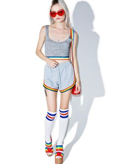 Camp Collection Rainbow Shorts
