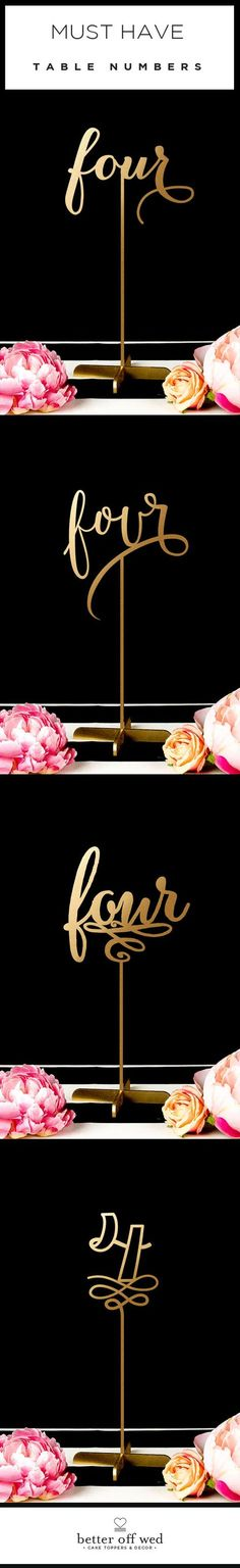 "Wow!! This site has the best selection of glam, gold table numbers I've seen ♥ I ordered the style in the first pic and am beyond impressed!! <a href=""http://www.betteroffwed.co"" rel=""nofollow"" target=""_blank"">www.betteroffwed.co</a>"