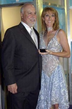 Céline Dion et René Angélil ☝🏻️Billboard Latin Music Awards Usa Prix spécial chanson My Heart ... 2002