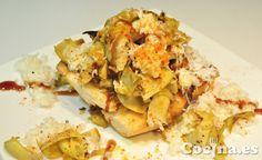 Receta: tosta de alcachofas a la plancha con queso de cabra http://www.cocina.es/2013/08/12/receta-tosta-de-alcachofas-a-la-plancha-con-queso-de-cabra/