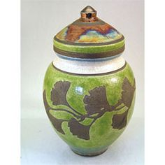 Ceramic Cremation Urns   Raku Pottery Urn for Ashes