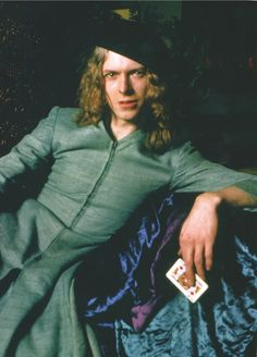 David Bowie on the first cover of The Man Who Sold The World, 1970. Mr fish