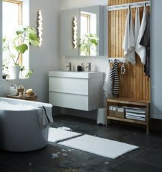 IKEA is the world's leading furniture and home appliance products manufacturer, every year IKEA launched a lot of products for sale worldwide. IKEA has been proved that they always give their bes Ikea Bathroom, Bathroom Furniture, Small Bathroom, Furniture Decor, Furniture Design, Bathroom Ideas, Compact Bathroom, Bathroom Makeovers, Downstairs Bathroom