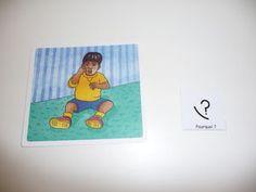 """Utilizo el juego ¿Por qué? Porque"""" para trabajar la capacidad de hacer preguntas y responder a las preguntas. http://www.hoptoys.es/POR-QUE-PORQUE-p-508-c-543_545.html#FP"""