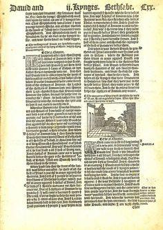 1537 Matthew-Tyndale Bible First Edition: David & Bethsheba