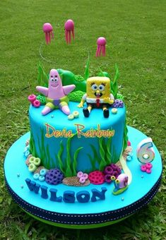 Cupcakes, Cupcake Cakes, Cake Decorating Techniques, Cake Decorating Tips, Spongebob Birthday Party, Sea Cakes, Novelty Cakes, Cakes For Boys, Easter Treats