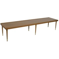 Johnson furniture Company bench / table   From a unique collection of antique and modern benches at http://www.1stdibs.com/furniture/seating/benches/