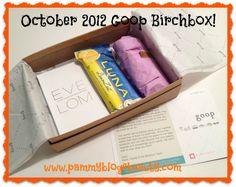 October 2012 Goop Birchbox: Box Opening! ~ Pammy Blogs Beauty