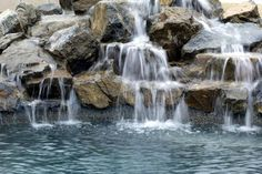 31 Best Waterfalls Into Pools Images Gardens Landscaping Pools