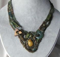 Tiger Eye Free Form Necklace by designsbyPerie5 on Etsy. $180.00 USD, via Etsy.