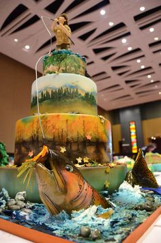 Fishing Party Ideas & Inspirations #cake #Fishing #coupon code nicesup123 gets 25% off at leadingedgehealth.com