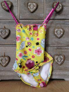 Girl Swimwear 1-2-3 One Piece Kids Toddler by GiuliaGaruti on Etsy