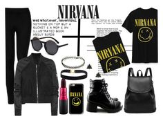 """""""NIRVANA"""" by zeresxoxox ❤ liked on Polyvore featuring Wolford, Rick Owens, Casetify, MAC Cosmetics and Modern Organic Products"""