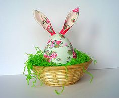 Easter Egg Bunny Plush ornament home decoration by PositivEmotions, £8.95