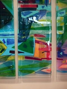"""Charleston Harbor"" Fused Glass Art Panels 