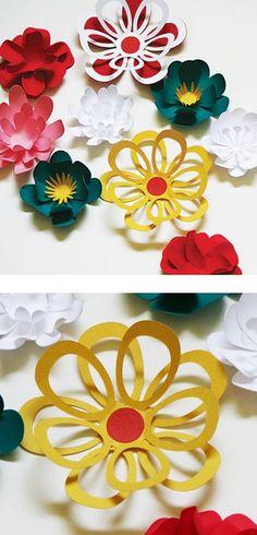 Creative Paper flowers DIY Modernas flores de papel para hacer uno misma estilo actual moderno Primavera verano celebraciones decor