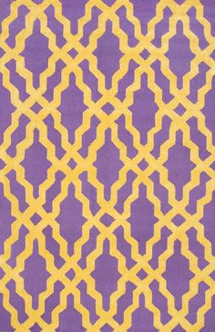 Nicolette Wool and Cotton Area Rug in Purple design by NuLoom