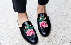 The perfect designer dupe for the $780 Gucci Princetown Embroidered Mule Loafers is only $35...