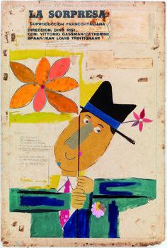 Eduardo Munoz Bachs, LA SORPRESA, 1966 Graphic Illustration, Illustrations, Graphic Art, Graphic Design, Saul Bass, Pop Art, Teaching Plan, Mish Mash, Vintage Posters