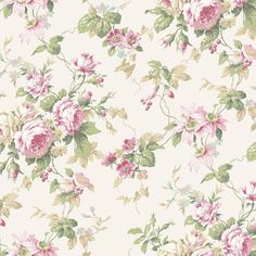 York CT0800 Callaway Cottage Rose Floral Trail Wallpaper