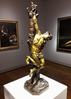 Martyrdom of Saint Sebastian by Anonymous (Italy), 17th century, National Museum in Warsaw. Purchased in 1922. #martyrdom #saintsebastian #italy #artinpl #nationalmuseuminwarsaw #gilt #bronze #marble #baroquesculpture Baroque Sculpture, Lion Sculpture, St Sebastian, National Museum, Warsaw, Byzantine, 17th Century, Anonymous, Rugs On Carpet