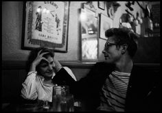 USA. New York City. 1955. James DEAN with Geraldine PAGE at a bar // © Dennis Stock