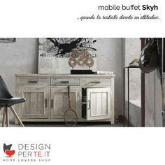 Quando la rusticità diventa un'attitudine nasce #Skyh, il mobile buffet dal design natural chic.  ♡ www.designperte.it ♡  #homestory #homeloversstory #homeloversshopstory #homedecor #homedesign #interiordesign #design #RoughAttitude #LaForma #Designperte