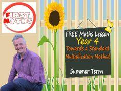 YouTube Towards a  Standard Multiplication Method Year 4 Maths PowerPoint - Summer Term