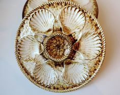 French Vintage Oyster Plate Made By Longchamp/Vintage Oyster