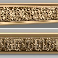 model for CNC routers and printers (art. Border Pattern, Border Design, Victorian Wall Decor, Arabic Decor, Hanging Beds, 3d Cnc, Celtic Patterns, Modelos 3d, Embossing Machine