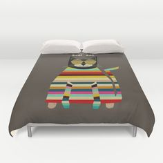 cool cat Duvet Cover by bri.buckley - $99.00