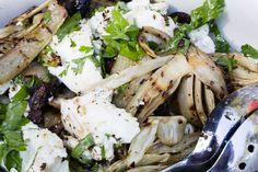 Grillattu mozzarella-fenkolisalaatti