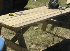 Build a Picnic Table - wikiHow