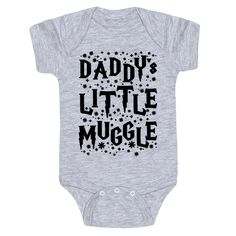 Harry Potter Daddy's little Muggle  Baby Onesie Alan Rickman