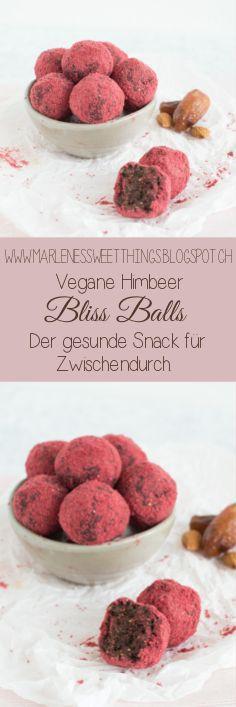 Bliss Balls: Himbeer - Mandeln Energiekugeln sind perfekt für Zwischendurch. Vegan und Zuckerfrei.