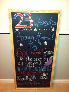 23 week pregnancy chalkboard