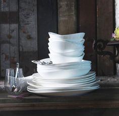 IKEA's Fancy New China: SKYN Fine China Dishes via the kitchn. Thanks to @Elizabeth Silbermann! #China #Dishes #IKEA