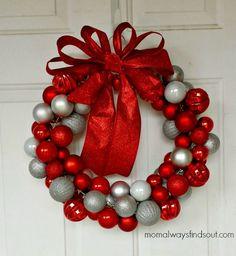 ornament wreath #Christmas #Craft #frugal