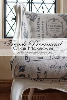 French Provincial Chair Makeover | Confessions of a Serial Do-it-Yourselfer