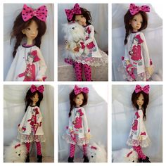 OOAK Handmade BJD outfit for 22 inch girls, modeled on Tobi and Nelly by Kaye Wiggs