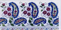 Cross Stitch Bookmarks, Cross Stitch Patterns, Paisley, Free To Use Images, Turkish Design, Bargello, Art Techniques, Embroidery Stitches, Needlework