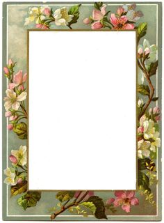 *The Graphics Fairy LLC*: Vintage French Menu - Blossom Frame