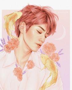 'sweet dreams [taeyong nct]' Poster by min-art Paint Tool Sai, K Pop, Framed Art Prints, Canvas Prints, Kpop Drawings, Nct Taeyong, Photoshop, Kpop Fanart, Disney Fan Art