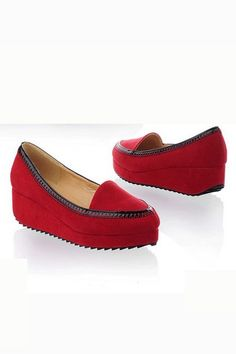 Simple Office Lady Round-toe Creepers